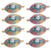 Juya DIY akcesoria do bransoletki ręcznie wykonane Opal Shell Charms greckie złe oko złącza dla modna bransoletka naszyjnik dokonywanie znalezienie