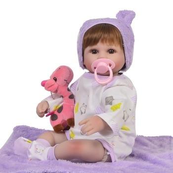 17Inch silicone newborn alive baby Toys real true bebe reborn bonecas children's day gift