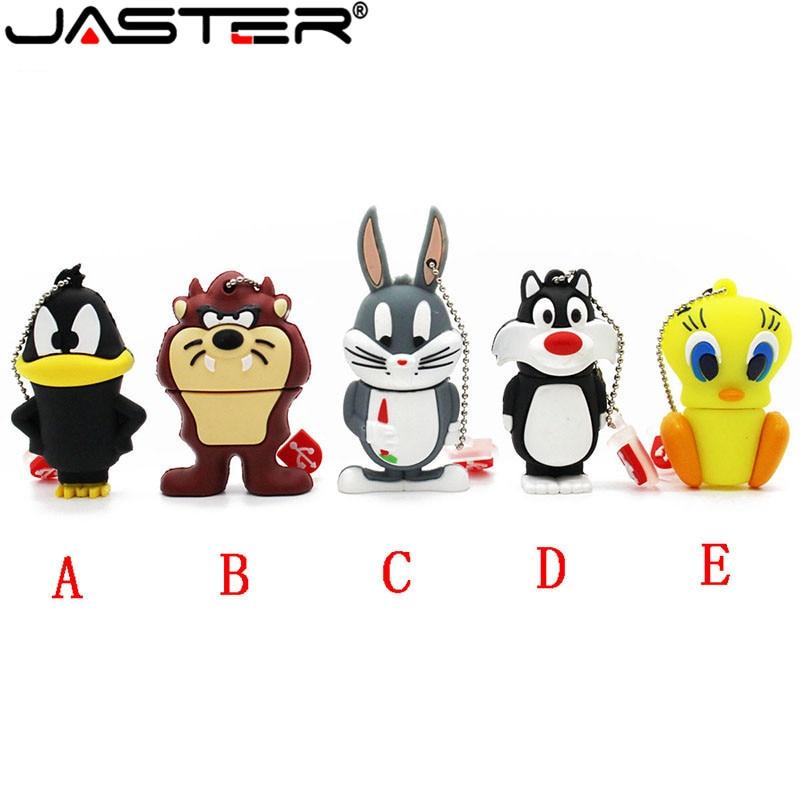 JASTER Cartoon5 Model 64 GB Konijn Leeuw Eend Usb Flash Drive Usb 2.0 4 GB 8 GB 16 GB 32 GB Pendrive Leuke Gift Usb2.0