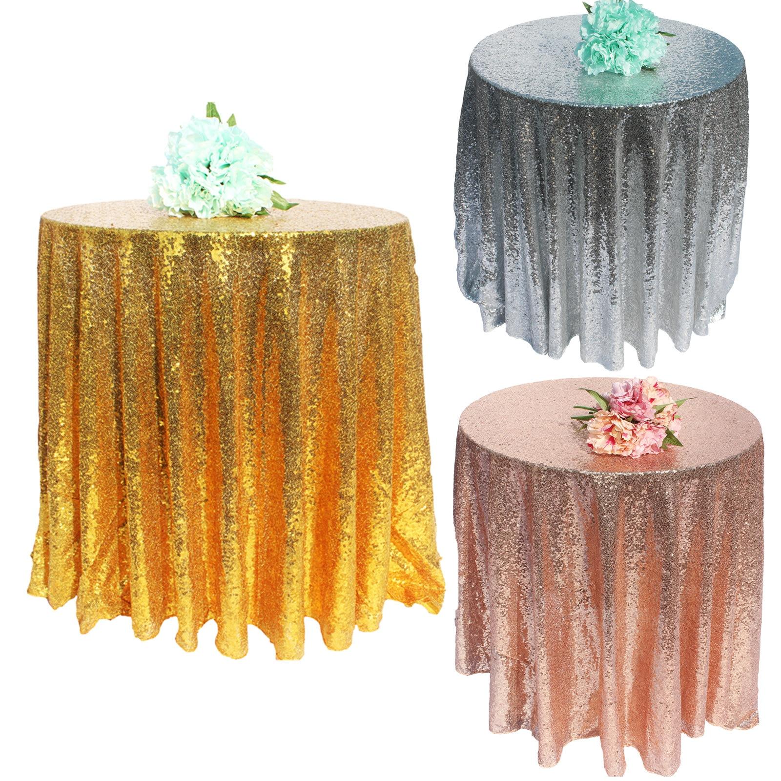 1 шт./лот скатерть с блестками, блестящая круглая и прямоугольная скатерть для свадебного украшения, вечерние, банкетные, домашний декор, поддержка на заказ