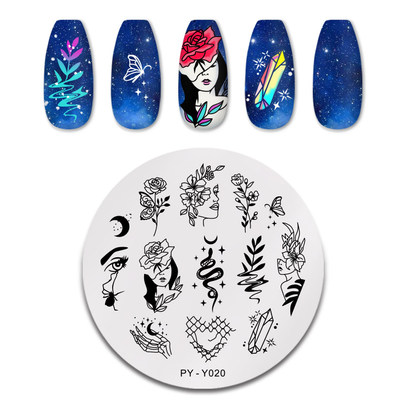 PICT YOU 12*6cm Nail Art Templates Stamping Plate Design Flower Animal Glass Temperature Lace Stamp Templates Plates Image 34