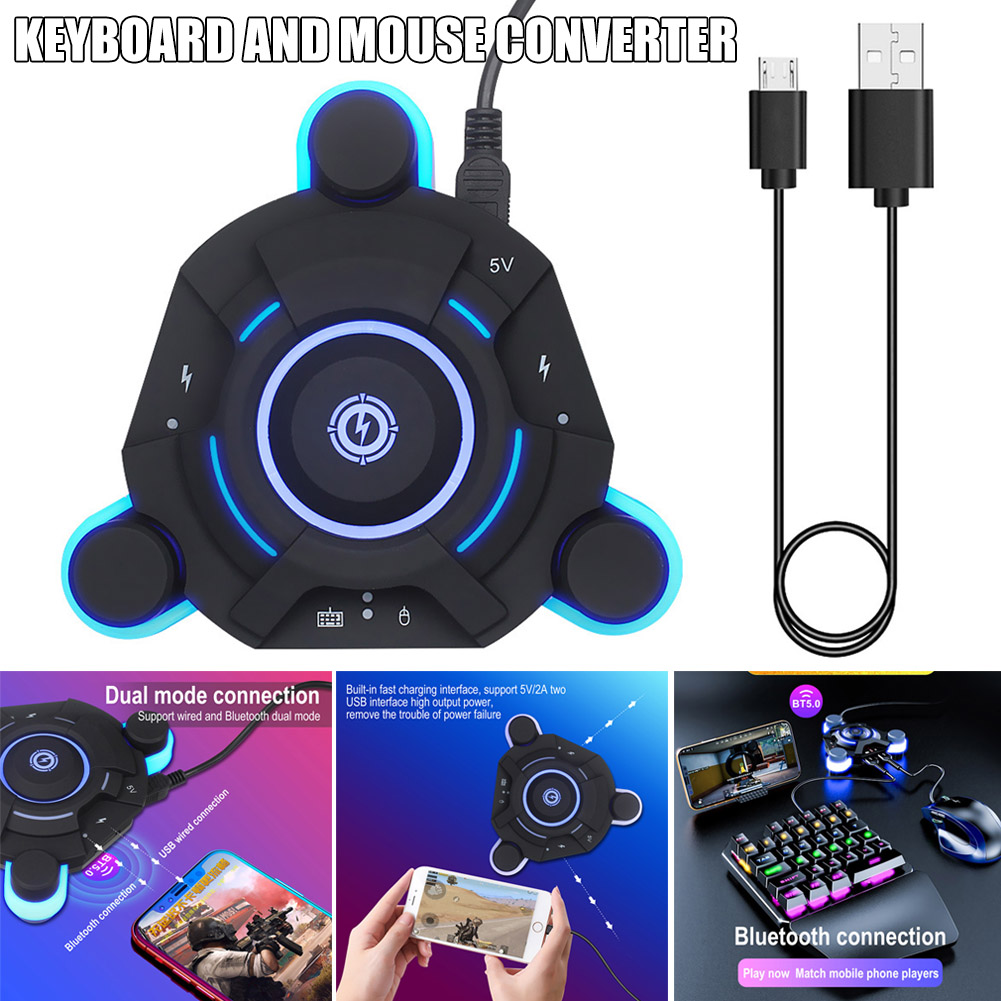 Bluetooth Gaming Keyboard Mouse Converter Game Adapter For IOS Android System H-best