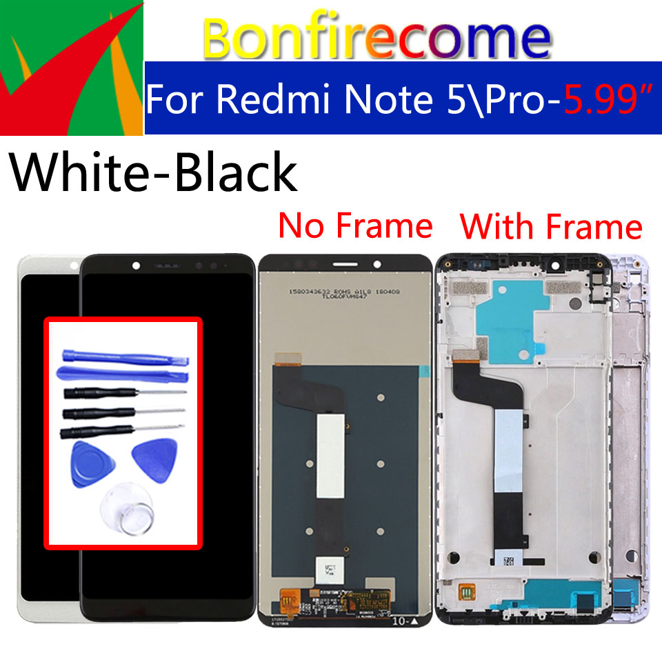 "5.99"" Original For Xiaomi Redmi Note 5 LCD Screen Display With Frame + Touch Screen Panel Digitizer For Xiaomi Redmi Note 5 ProMobile Phone LCD Screens   -"