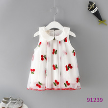 2019 Summer Girls Dresses Cute Sleeveless Mesh Baby Clothing Birthday Party Solid Kids Clothes For Infant Children Costume 2 7years summer baby girls dresses cartoon cute infant party dress children clothing princess costume for kids clothes bc1234
