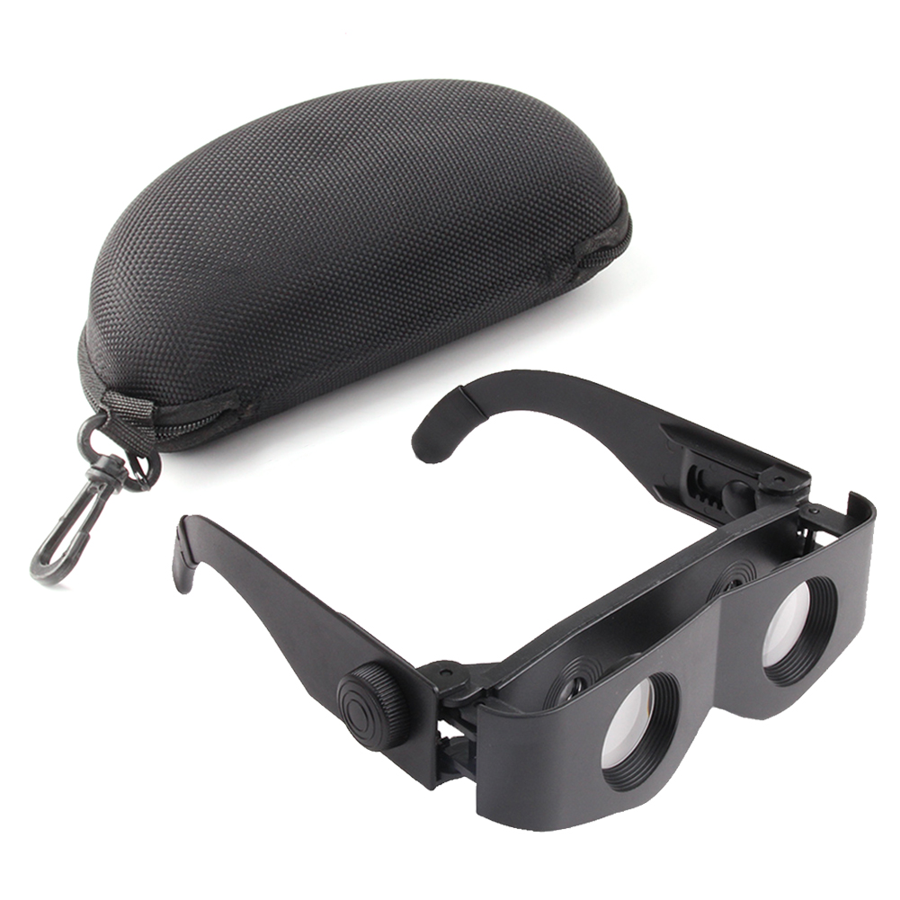 Portable Outdoor Fishing Telescope Glasses Binoculars Portable Waterproof HD Magnifier ABS Frame with Storage Case