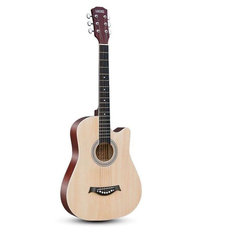 41 Inch Thin Body Acoustic-electric Guitar Beginner Guitar Free String Black Natural Sunburst White Color Basswood image