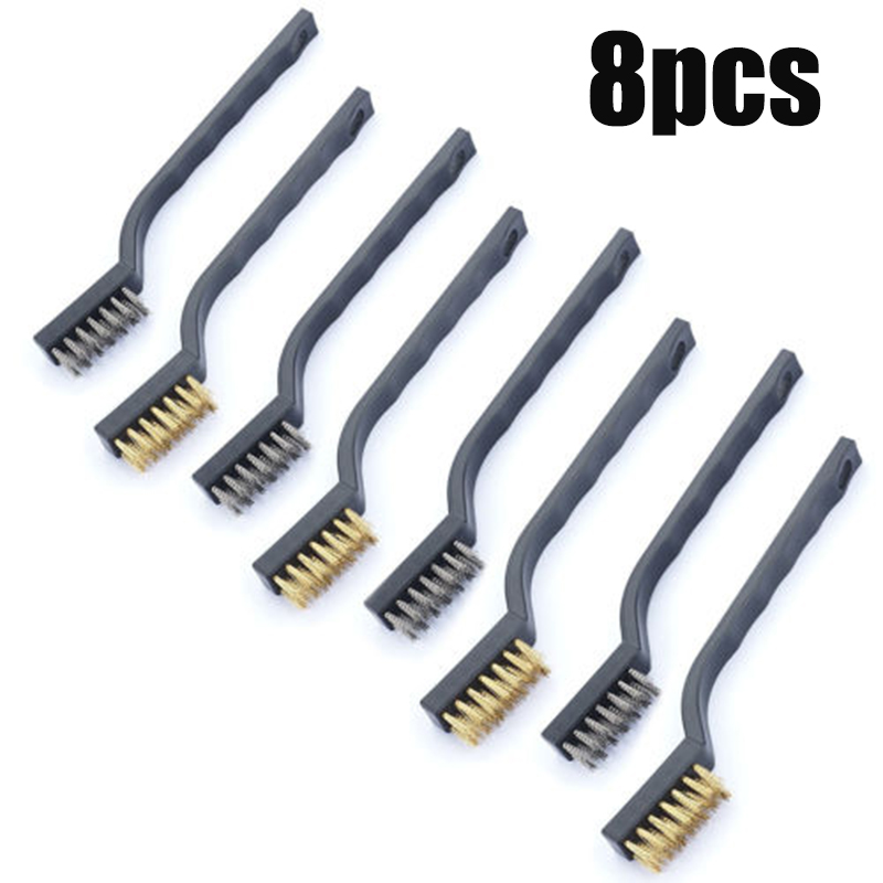 Wire Cleaning brush Mini Micro Small Brass DIY Rust Remover Removal Polishing