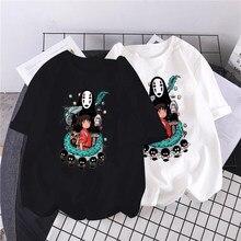 T-shirt Spirited Away streetwear anime giapponese ogino chihiro & No Face man cartoon print loose top Harajuku women ulzzang T-shirt