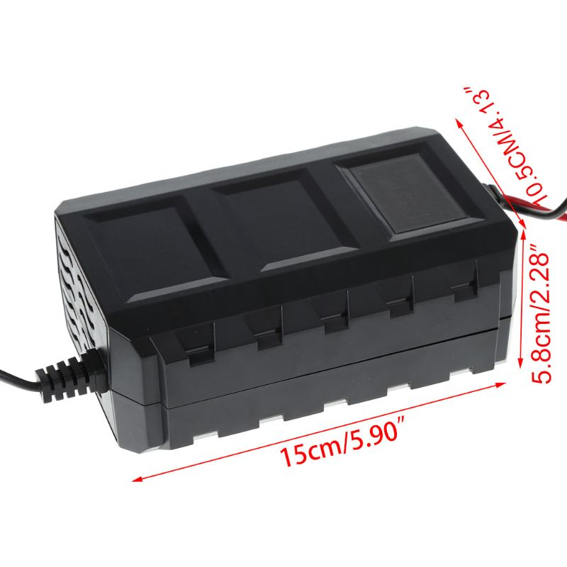 2021 New Intelligent 20A Automobile Battery Lead Acid Battery Charger Car Motorcycle EU