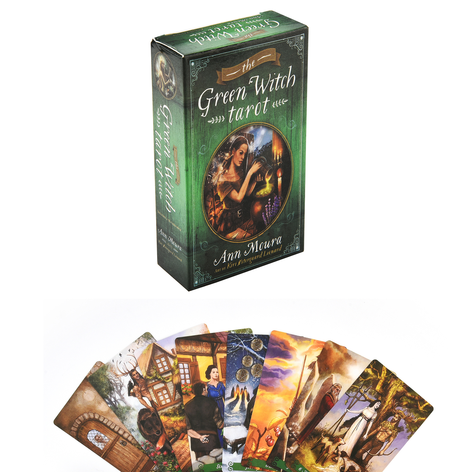 The Green Witch Tarot Oracle Tarot Cards Game Viceversa Tarot Kit Deck Card Board Games Party Playing Oracle Cards Family Games