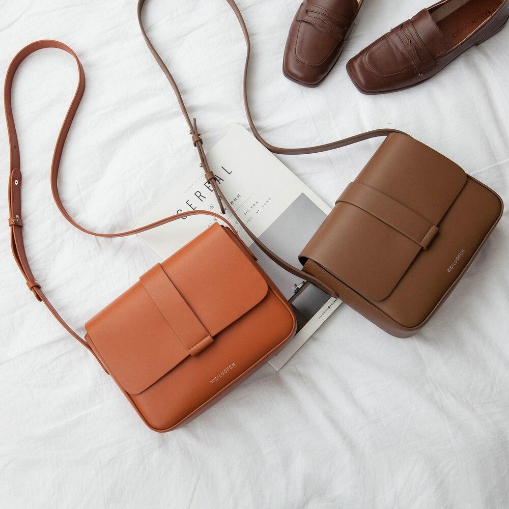 Venof marca feminina split couro crossbody sacos casuais do vintage macio couro da pele sacos de ombro moda saco do mensageiro alta qualidade - 3