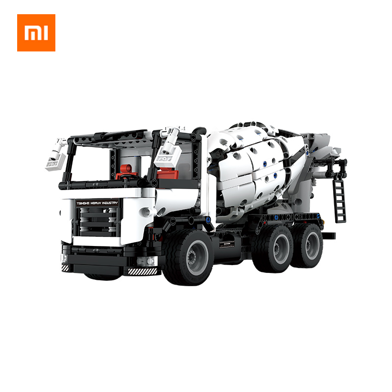 Xiaomi MITU Engineering Mixer Truck Building Blocks Car Toy Kids Christmas Gift Assembly Building Bricks 900+ Parts Puzzles DIY