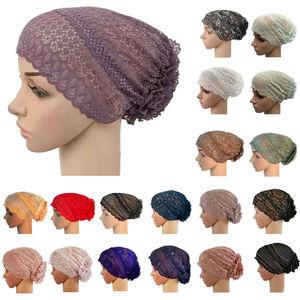 New Full Cover Muslim Inner Hijab Scarf Lace Cap Turban Women's Headwear Underscarf Islamic Headscarf Wrap Hat Bonnet Hair Loss