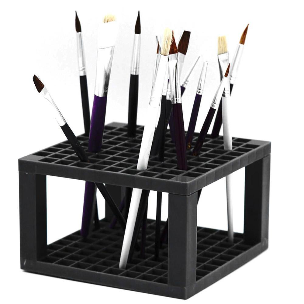 2019 New 96-slot Painting Brush Pen Storage Holder Stand Organizer Rack Drawing Supplies