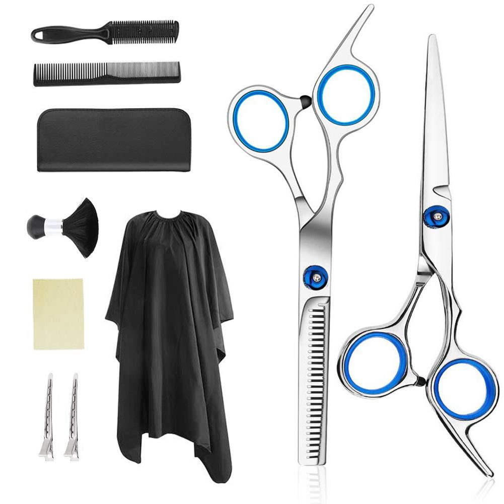 Professional Hairdressing Scissors Kit Hair Cutting Scissors Hairbrush Hair Clip Cape Grooming Comb For Barbershop