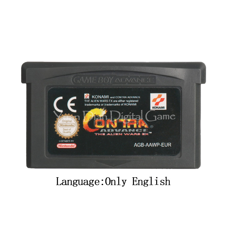 For Nintendo GBA Video Game Cartridge Console Card Contra Advance The Alien Wars EX EU Version