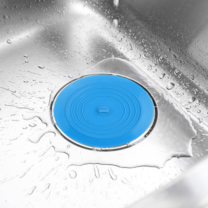 Round Silicone Kitchen Sink Strainer Filter Stopper Sewer Tub Drain Protector Cover Plug Hair Catcher Deodorant Bath Accessoires
