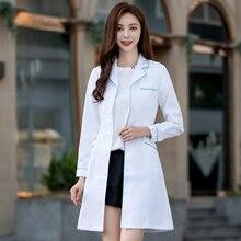 Белый пальто женщины с длинным рукавом доктор медсестра больница единые салон красоты клиника аптека
