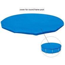 Foldable Swimming Pool Cover Round Waterproof Pipe Rack Pool
