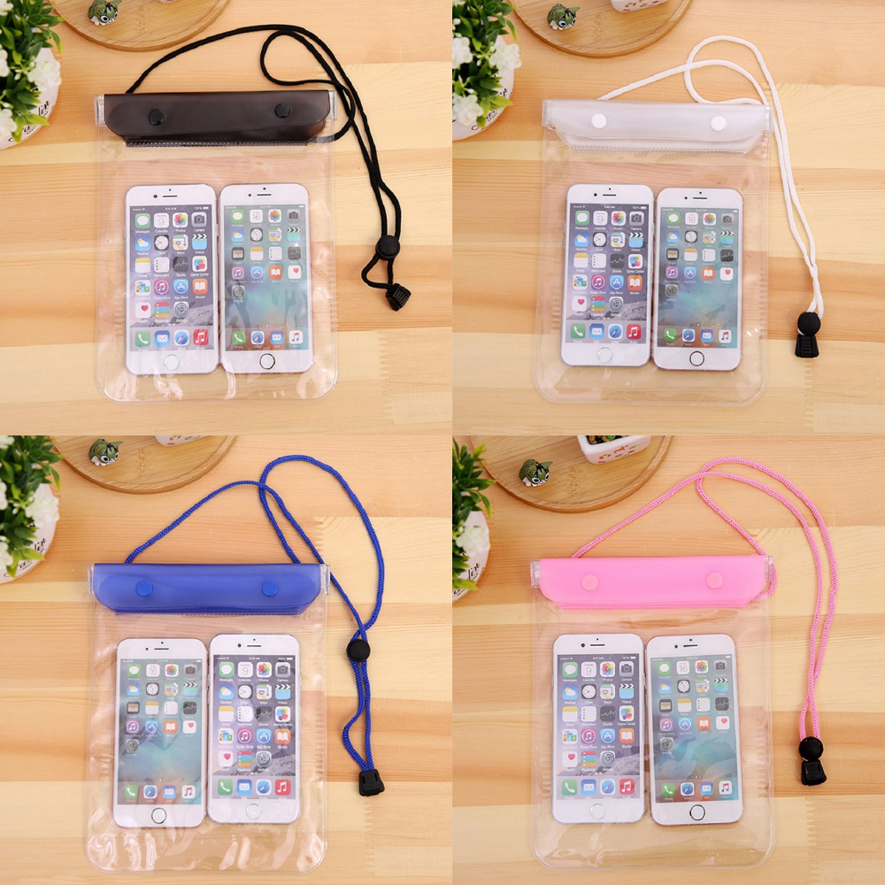 Waterproof Swimming Bag Mobile Phone Large Pouch Holder Smartphone Cellphones Pouch For Surfing Diving On Beach Sea Use