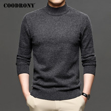 COODRONY Brand Turtleneck Sweater Men Clothing Autumn Winter Thick Warm Jumper Sweaters Pure Color Knitwear Pullover Men C1190