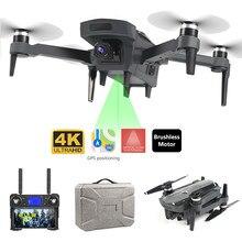 Novo zangão k20 gps com 4k hd câmera dupla sem escova do motor wifi fpv zangão inteligente profissional dobrável quadcopter 1800m distância rc