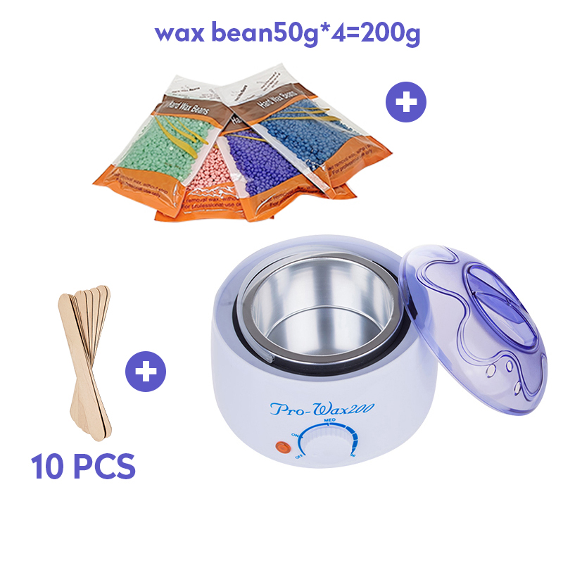 Electric Wax Heater Professionel Hand Feet Body Hair Removal Machine Hand Waxing Paraffin Epilator Mini SPA Wax Pot Kit