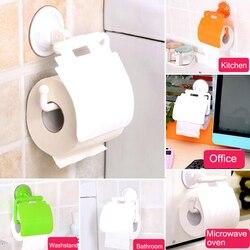 Gorąca sprzedaż 1 sztuk montowana na przyssawkę uchwyt papieru toaletowego rolki papieru stojak dozowniki z pokrywą akcesoria łazienkowe w Przenośne uchwyty na papier toaletowy od Dom i ogród na