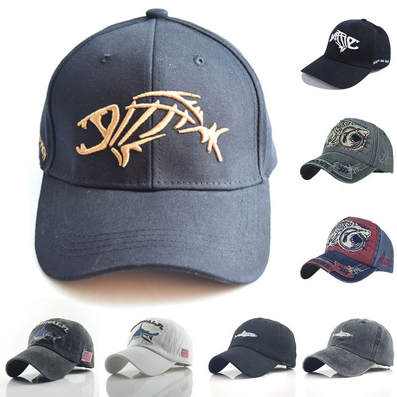 2020 Fish Bone Men's Baseball Cap Women's Snapback Fishing Embroidery Dad Hat Man Kids Trucker Gorra Summer Fisher Brand Men Cap