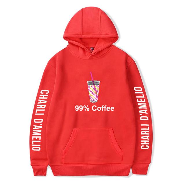 CHARLI D'AMELIO 99% COFFEE THEMED HOODIE (6 VARIAN)