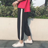 Men's trousers summer 2019 new slim measure pipe print straight trousers cargo pants loose casual personality young men's wear