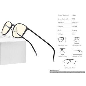Image 4 - FONEX جودة عالية TR90 مكافحة نظارات الضوء الأزرق الرجال نظارات القراءة حماية نظارات كمبيوتر ألعاب نظارات للنساء AB01