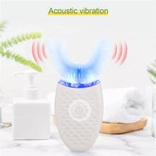 Usb 充電口腔歯インテリジェント自動ソニック歯ブラシ u タイプ 4 モード洗える歯ブラシブルー冷光