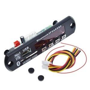 Image 4 - TZT nouvelle arrivée sans fil Bluetooth 12V MP3 WMA décodeur carte Module Audio USB TF Radio pour accessoires de voiture