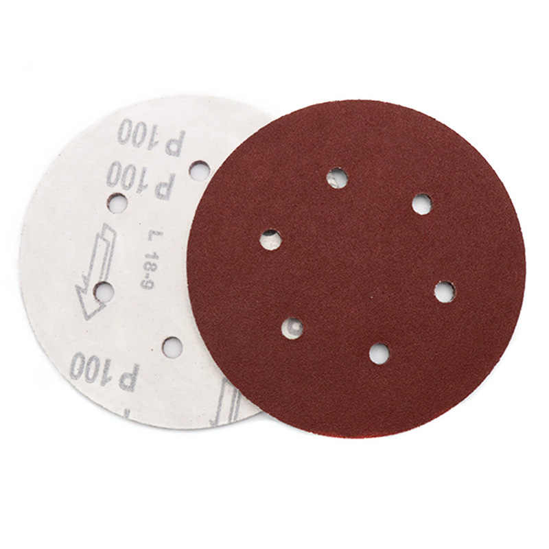 10 Pcs 6 Inch 150 Mm Putaran Amplas Enam Lubang Disk Pasir Lembar Grit 40-800 Hook dan Loop amplas Disc Polishing Lembar