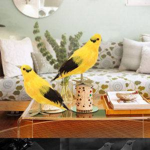 Nova pena artificial pombo pé pássaro quintal estatueta decoração do miúdo brinquedo casamento casa arte decoração acessórios simulação pássaro