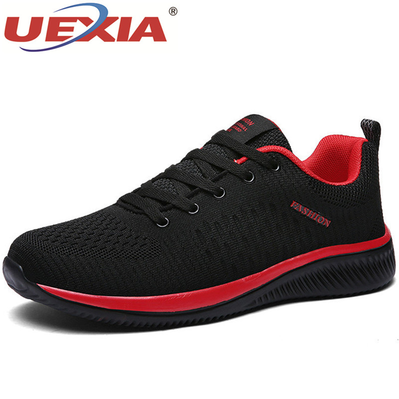 UEXIA Mesh Casual Shoes Lac-up Unisex Couple Shoes Lightweight Comfortable Breathable Walking Sneakers Tenis Feminino Zapatos