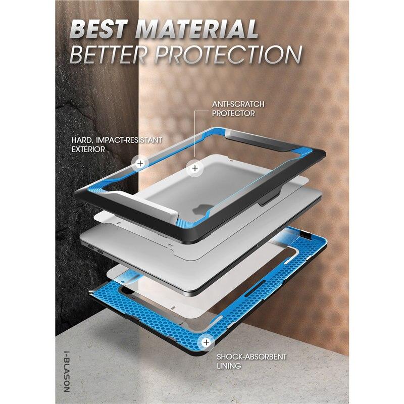 I-BLASON pour étui MacBook Pro 16 (2019) housse antichoc robuste avec pochette de protection en polyuréthane thermoplastique pour MacBook Pro 16