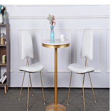 Marble-Net Round-Table Chairs-Combination Tea-Shop Restaurant Small And Leisure Red To