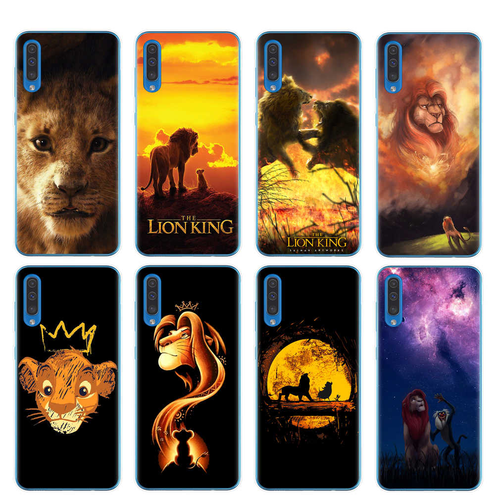 Lion King nala simba timon case for A50 soft tpu phone cover For Samsung A30 A40 A50 A70  A7 A9 A8 Plus 2018 le roi lion coque