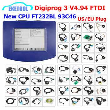 DIGIPROG 3 V4.94 Full Set All Cables Odometer Correction Original CPU FTDI Digiprog3 Digiprog 3 V4.94 Mileage Correction - DISCOUNT ITEM  14 OFF Automobiles & Motorcycles