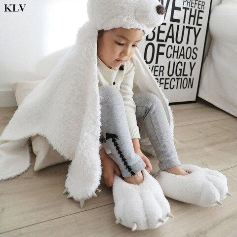 crianca crianca criancas inverno recheado fuzzy casa