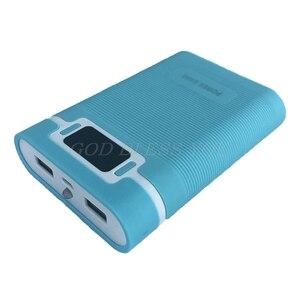 Image 5 - Dual USB Màn LCD Chống Đảo Ngược Di Động Công Suất Ngân Hàng 4 Hộp X 18650 Tự Làm Hiển Thị Pin Sạc 5V 2A powerbank Case Với Đèn LED