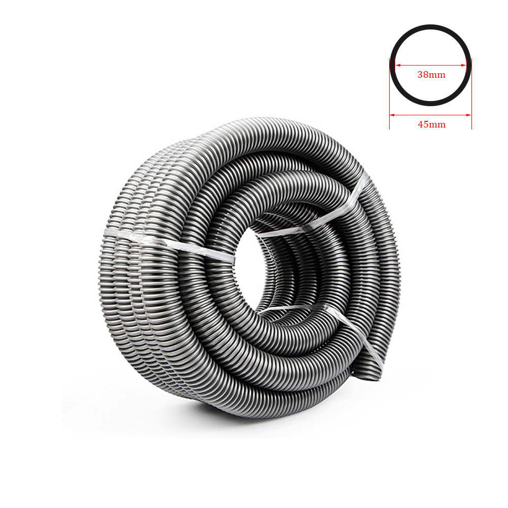 Vacuum Cleaner Thread Hose Straws Inner 38mm Outer 48mm Soft Pipes Bellows Vacuum Tube Accessories Gray