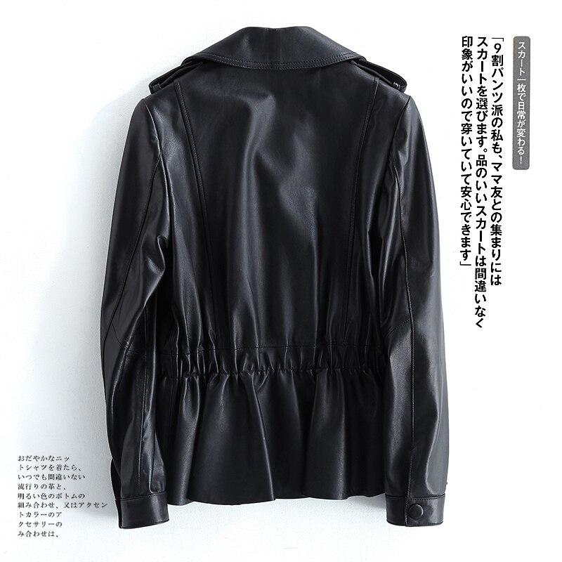 Leather Genuine 2020 Jacket Women Spring Autumn Sheepskin Coat Korean Blazer Real Leather Chaqueta Cuero Mujer XR419