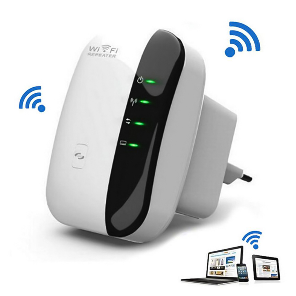Wireless-N Wi-Fi Repeater 802.11N/B/G Network Router, 300Mbps Range Expander Signal Amplifier Booster WIFI Ap Wps Encryption