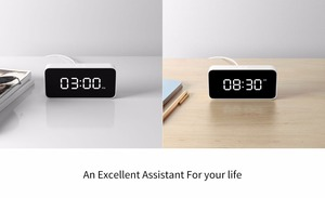 Image 4 - Original Xiaomi Mijia Xiaoai Smart Voice Broadcast Alarm Clock Work with Mi Home App White