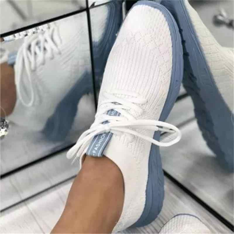 Femmes Bleu ou Rouge Vérifié à Lacets Toile Chaussures F8499
