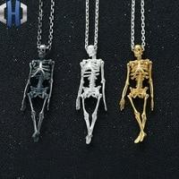 Original Design Full Body Skeleton Skeleton Pendant S925 Sterling Silver Skull Skull Chest Pendant