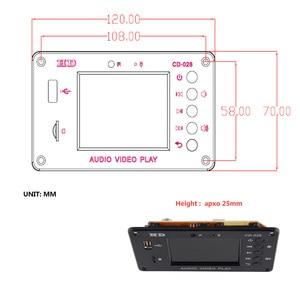 Image 3 - Reproductor MP3 Bluetooth 5,0 para coche, Módulo de placa decodificadora FLAC APE con pantalla LCD KIT de memoria USB FM Aux Radio Lyrics Spectrum Folder Display PW